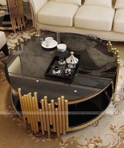 bàn trà tròn hiện đại
